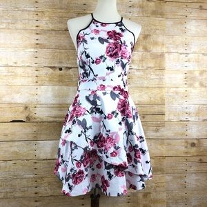 Speechless Pink Floral Homecoming Dress Sz 9